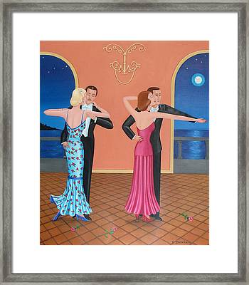 The Tango Framed Print by Tracy Dennison
