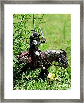 The Taunting Of Zahor Framed Print