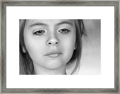 Framed Print featuring the photograph The Tear by Ethiriel  Photography