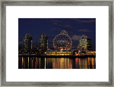 The Telus Science Center At Night Framed Print