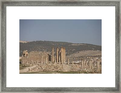 The Temple Of Artemis In The Ruins Framed Print by Taylor S. Kennedy