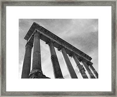 The Temple Of Saturn Framed Print by Chris Hill