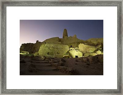 The Temple Of The Oracle, Siwa Oasis Framed Print by Deddeda