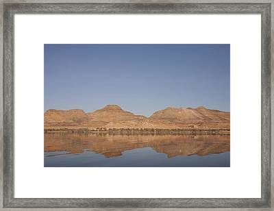The Temples Of Amada And Derr Reflect Framed Print by Taylor S. Kennedy
