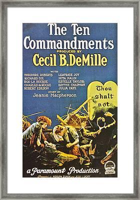 The Ten Commandments - 1923 Framed Print by Georgia Fowler