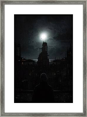 The Tenebrous Sprawl Framed Print by Martin Bland