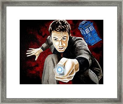 The Tenth Doctor Framed Print by Al  Molina