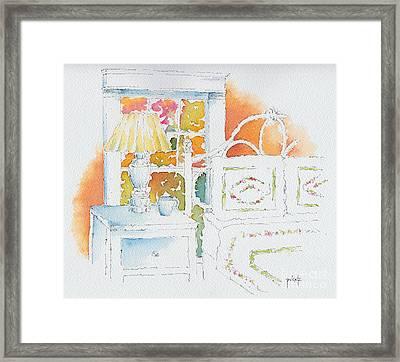 The Terra Cotta Room Framed Print by Pat Katz