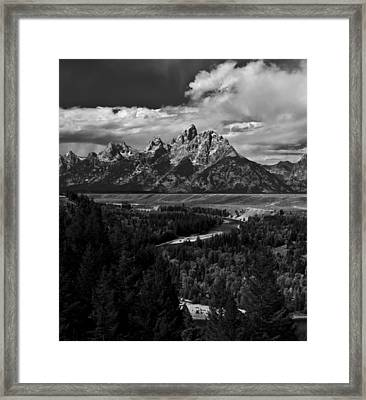 The Tetons - Il Bw Framed Print