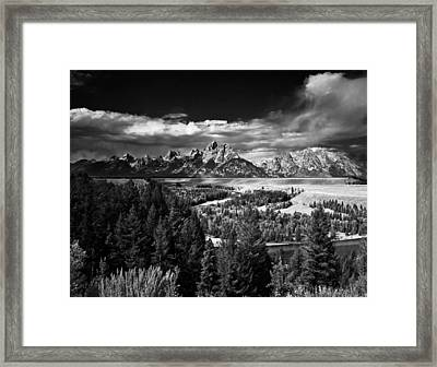 The Tetons Framed Print