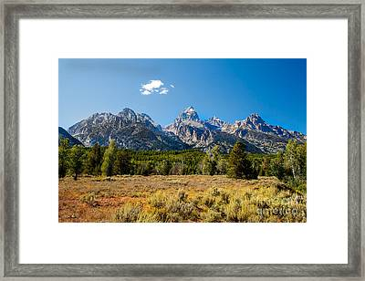 The Tetons Mountains Framed Print by Robert Bales