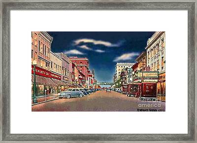 The Theater And Woolworth's In Norristown Pa In 1940 Framed Print