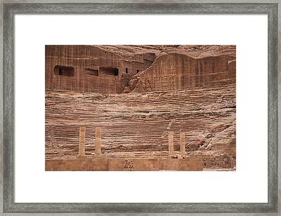 The Theater Carved Out Of A Rock Wall Framed Print by Taylor S. Kennedy