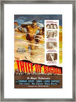 The Thief Of Bagdad, Rex Ingram, 1940 Framed Print