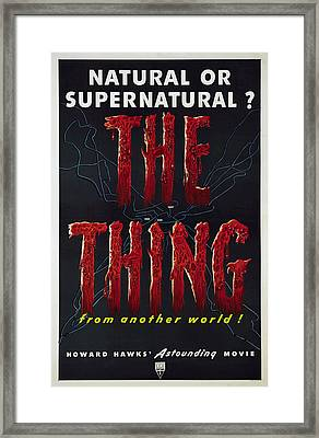 The Thing Aka The Thing From Another Framed Print by Everett