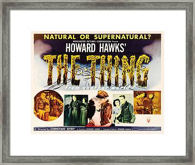 The Thing From Another World, Margaret Framed Print