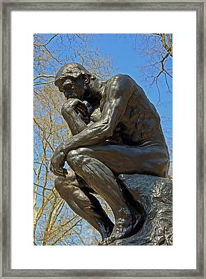 The Thinker By Rodin Framed Print