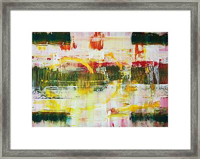 The Third Abstract Bank Of The River  Framed Print by Dmitri Matkovsky