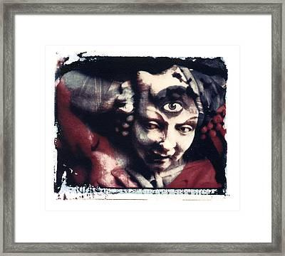 The Third Eye Polaroid Transfer Framed Print by Jane Linders