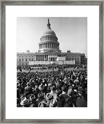 The Third Inaugural Address Framed Print by Everett