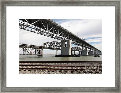 The Three Benicia-martinez Bridges In California - 5d18662 Framed Print by Wingsdomain Art and Photography