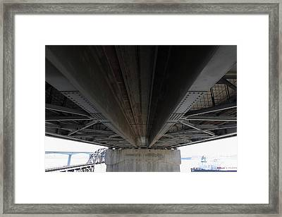 The Three Benicia-martinez Bridges In California - 5d18842 Framed Print by Wingsdomain Art and Photography