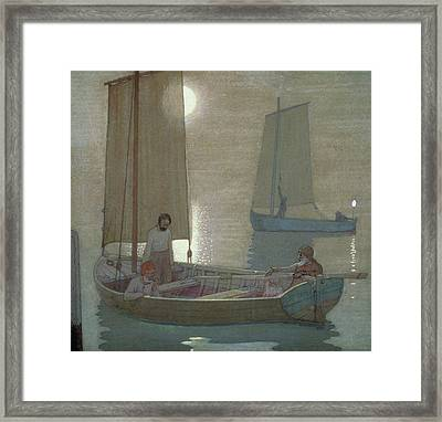 The Three Brothers Framed Print by Frederick Cayley Robinson
