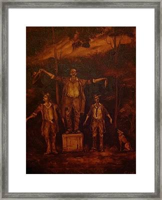 The Three Bush Tenors Framed Print by Paul Morgan