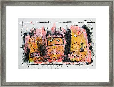 The Three Evils Framed Print