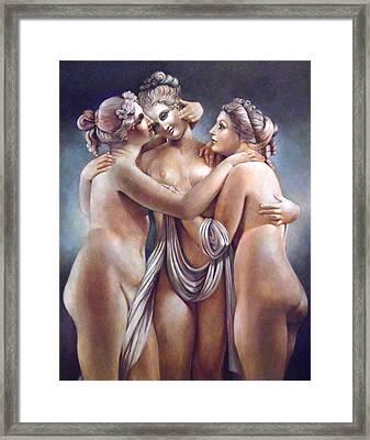The Three Graces Framed Print by Geraldine Arata
