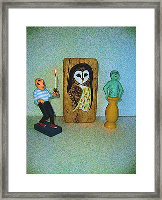 The Three Mystics Framed Print