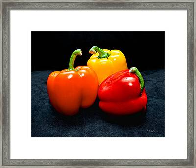 The Three Peppers Framed Print by Christopher Holmes