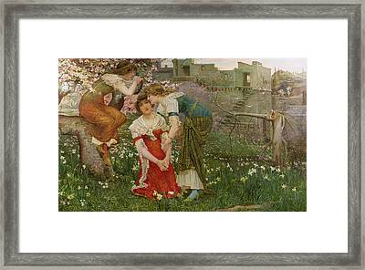 The Three Princesses Framed Print by Edward Matthew Hale