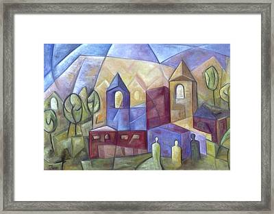 The Three Visitors Framed Print