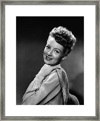 The Thrill Of Brazil, Evelyn Keyes, 1946 Framed Print