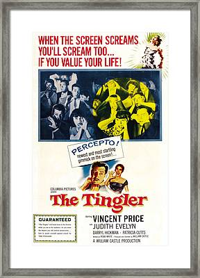 The Tingler, Bottom Vincent Price Framed Print by Everett
