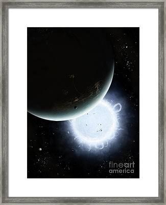 The Tiny Moon Rakka Ume Travels Framed Print by Brian Christensen