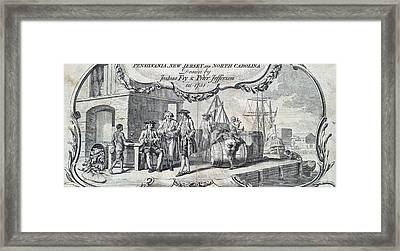 The Tobacco Trade. Merchants Relax Framed Print by Everett