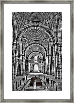 The Tombs At Fontevraud Abbey   France Framed Print