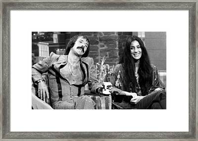 The Tonight Show, Sonny & Cher, 1975 Framed Print by Everett