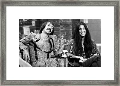 The Tonight Show, Sonny & Cher, 1975 Framed Print