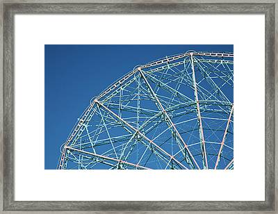 The Top Of A Ferris Wheel, Low Angle View Framed Print by Frederick Bass