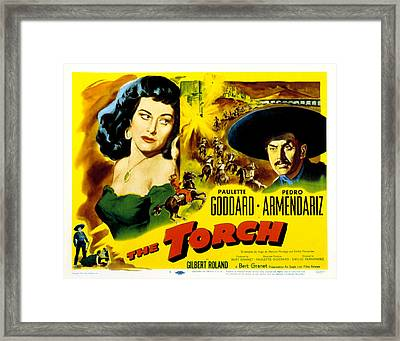 The Torch, Paulette Goddard, Pedro Framed Print by Everett