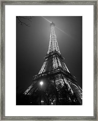 The Tower Ablaze Framed Print by Humberto Laviera