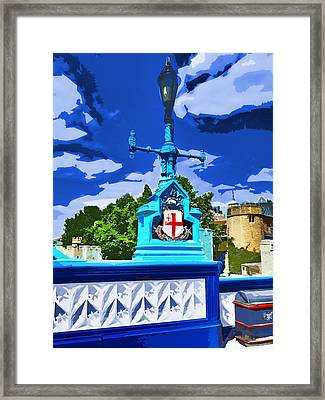 The Tower Lamp Post Framed Print by Steve Taylor