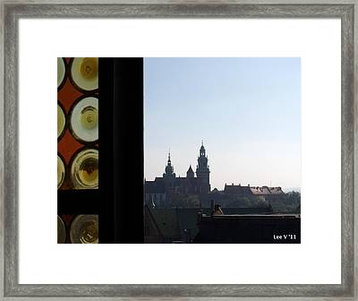 The Tower Window Framed Print by Lee Versluis