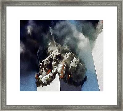 The Towers Collapse Framed Print by Jann Paxton