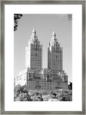 The Towers In Black And White Framed Print by Rob Hans