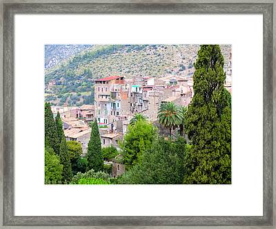 The Town Of Tivili Framed Print by Mindy Newman