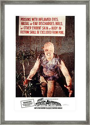 The Toxic Avenger, Mitch Cohen, 1985 Framed Print